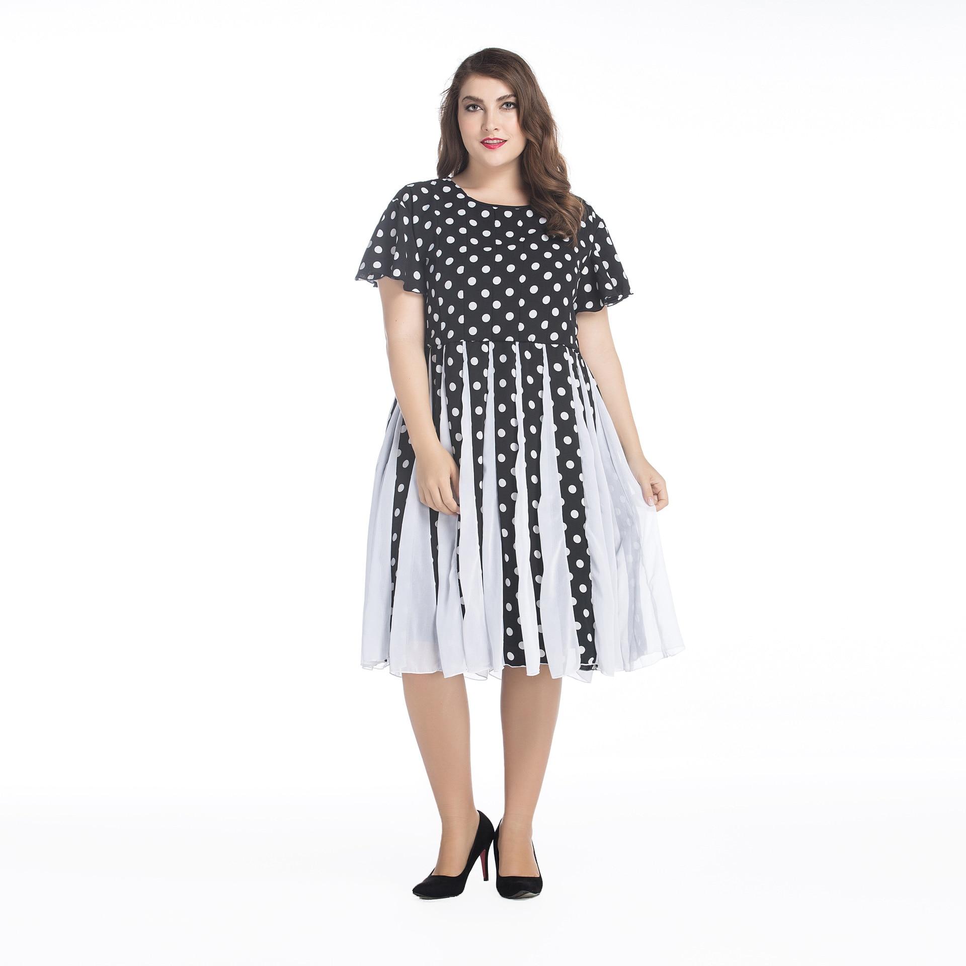 7XL 6xl 5xl Tallas grandes Mujer 2017 Nueva Tormenta Negro Vestido ...