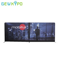 20ft*8ft Premium Exhibition Advertising Display Straight Stretch Fabric Media Backdrop Wall With Your Own Design Banner Printing