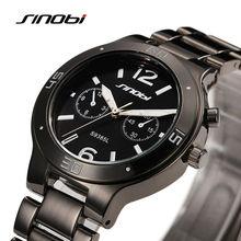 Sinobi lujo moda mujeres negro reloj de cuarzo completa de acero inoxidable para mujer reloj Relogio Feminino regalo SN38