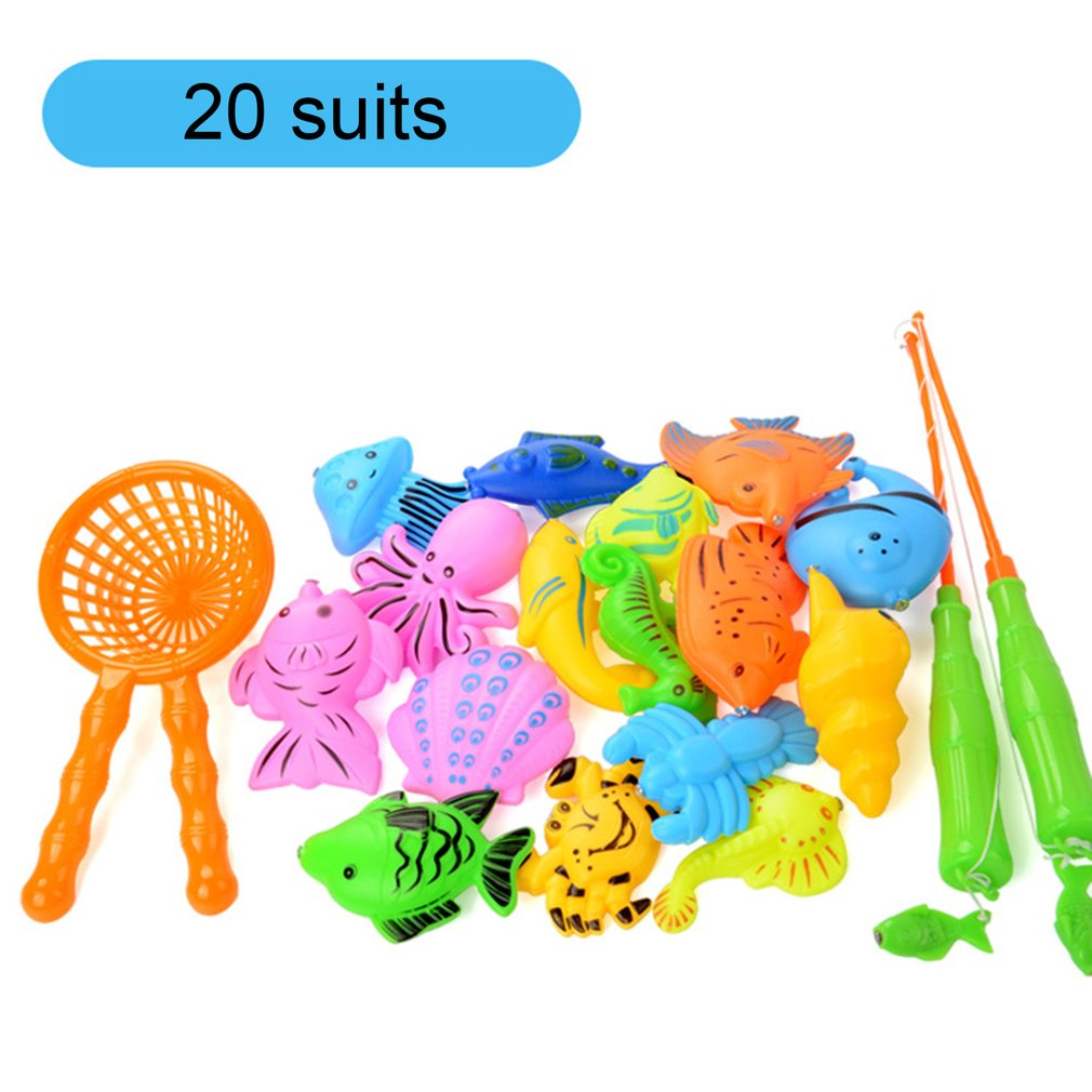 a3932dd34 Detail Feedback Questions about 20Pcs/set Indoor Outdoor Fish Toys Water  Pool Magnetic Fish Pole Rod Net Kid Children Model Play Game Learning Baby  Fishing ...