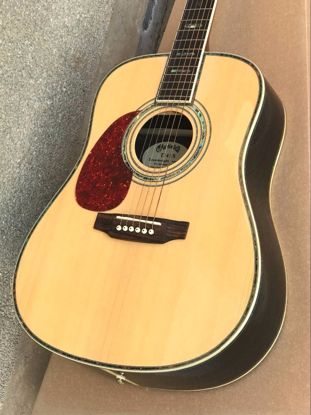 custom guitar factory new Top Quality Solid Spruce Top Rosewood Back & Sides left handed Acoustic 45 guitar free shipping free shipping top quality solid spruce top j 185ec acoustic guitar natural wooden acoustic guitar
