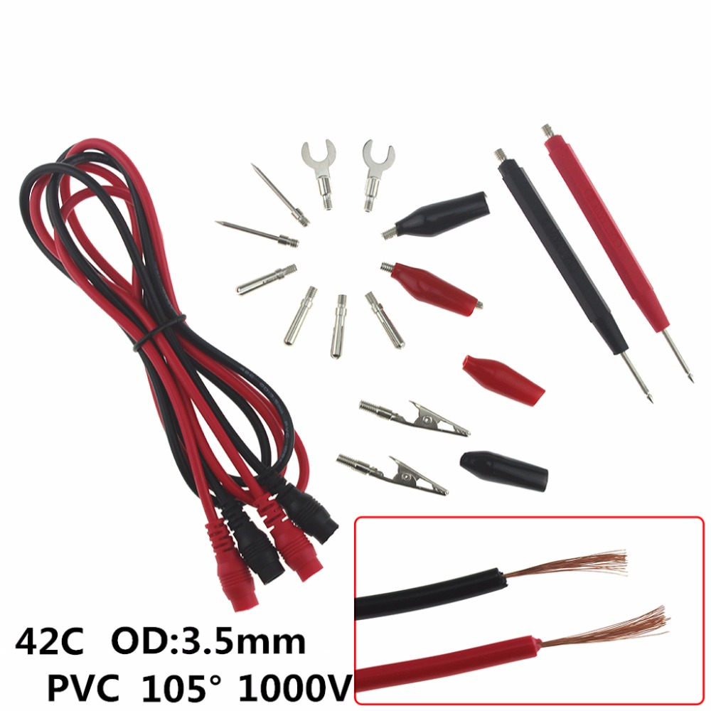 Quality Set Tool Probe Electronic Test Lead Kit  Multifunction Multimeter Cable