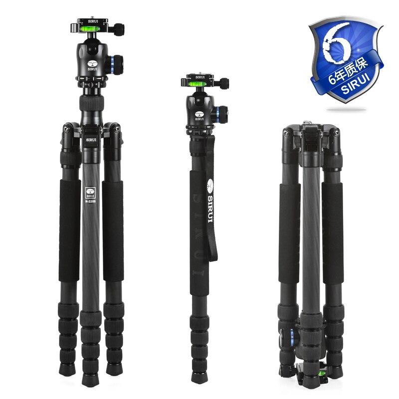 Sirui Carbon Tripod+Ball Head+Quick Release Plate Kit Professional Travel Tripod Set Go Pro Accessories Light DHL N2205X+K20X цена