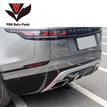 Velar серебристый/черный ABS пластиковый диффузор задний спойлер для губ в комплекте для Land Rover Velar 2017 2018 2019