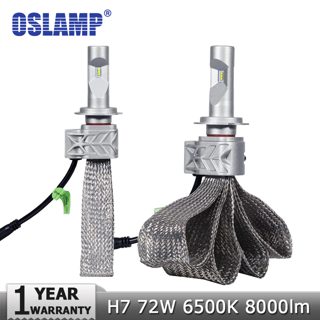 Oslamp H7 72W 8000lm LED Car Headlight Bulbs CREE Led Chips 6500K Auto Led Headlamp DRL Fog Light Copper Belt Headlights 12v 24v
