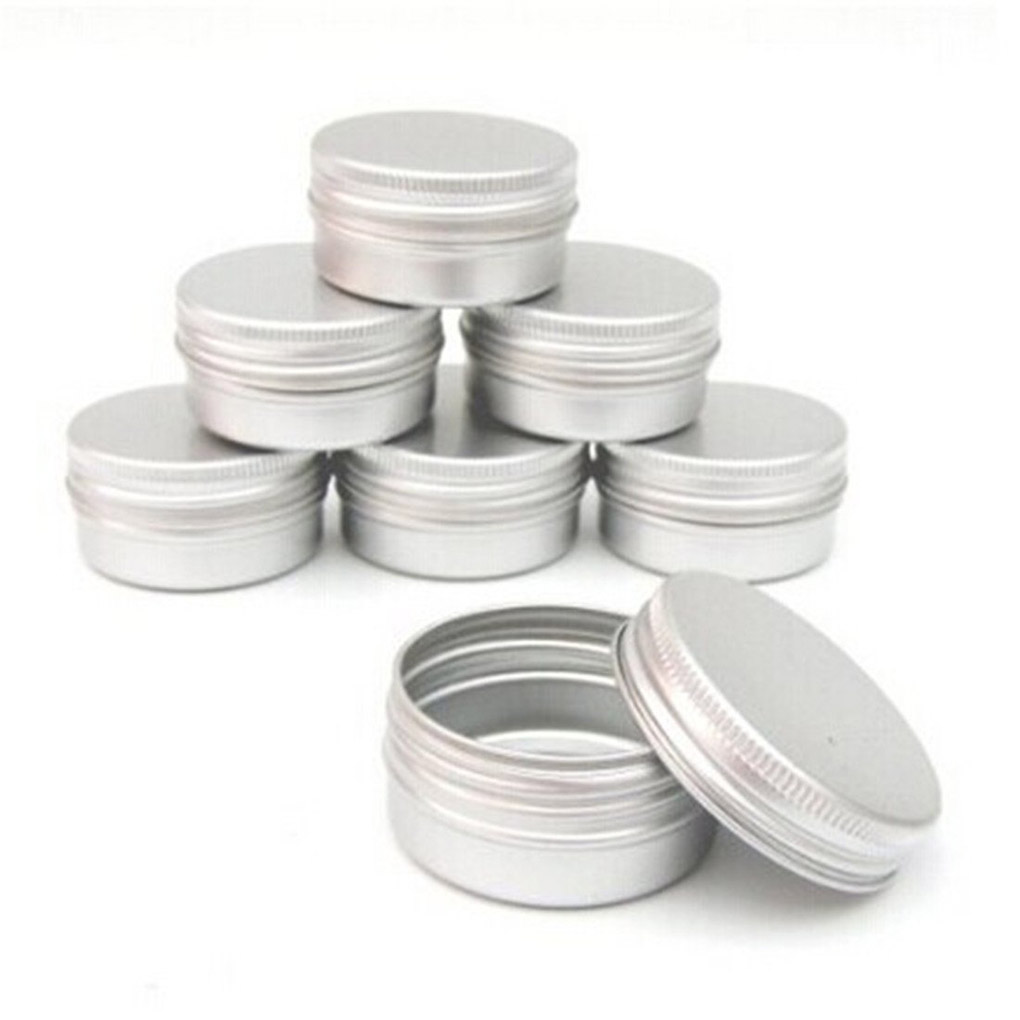 10pcs Balm Nail Art Cosmetic Cream Make Up Pot Lip Jar Tin Case Container Inexpensive