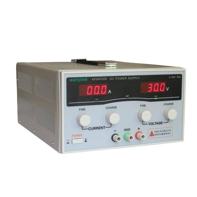 220V 60 V/30A KPS6030D haute précision haute puissance réglable LED double affichage commutation DC alimentation
