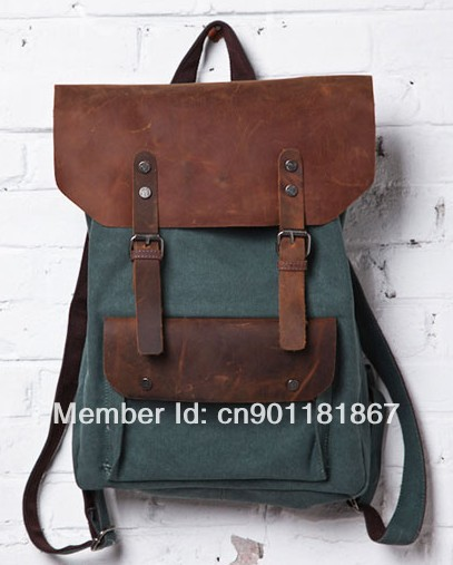 ФОТО 2016 cash lady canvas bag Washed Canvas with genuine free shipping  Men's canvas bag Handbags
