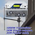 1KW Radio FM broadcast Transmitter + 1KW dipole antenna+35M feeder cable with connecoters