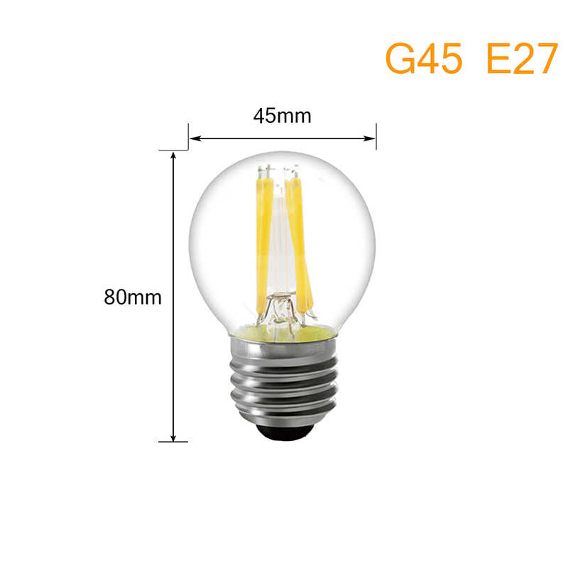 LED Filament Bulb E27 LED Bulb E14 LED Candle Bulb Lamp Light Edison 220V Glass Replace 20W 30W 40W 50W Incandescent