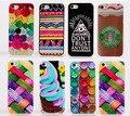 Para iphone 5s caso botón/helado/patrón de tela de color dura de la pc cubierta de la funda detrás para el iphone 5 5g caja del teléfono móvil SJK0777