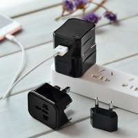 HOCO AC2 5V 1A 150 Countries Portable Single Port Convenient Universal Converter Charger Power Adapter With