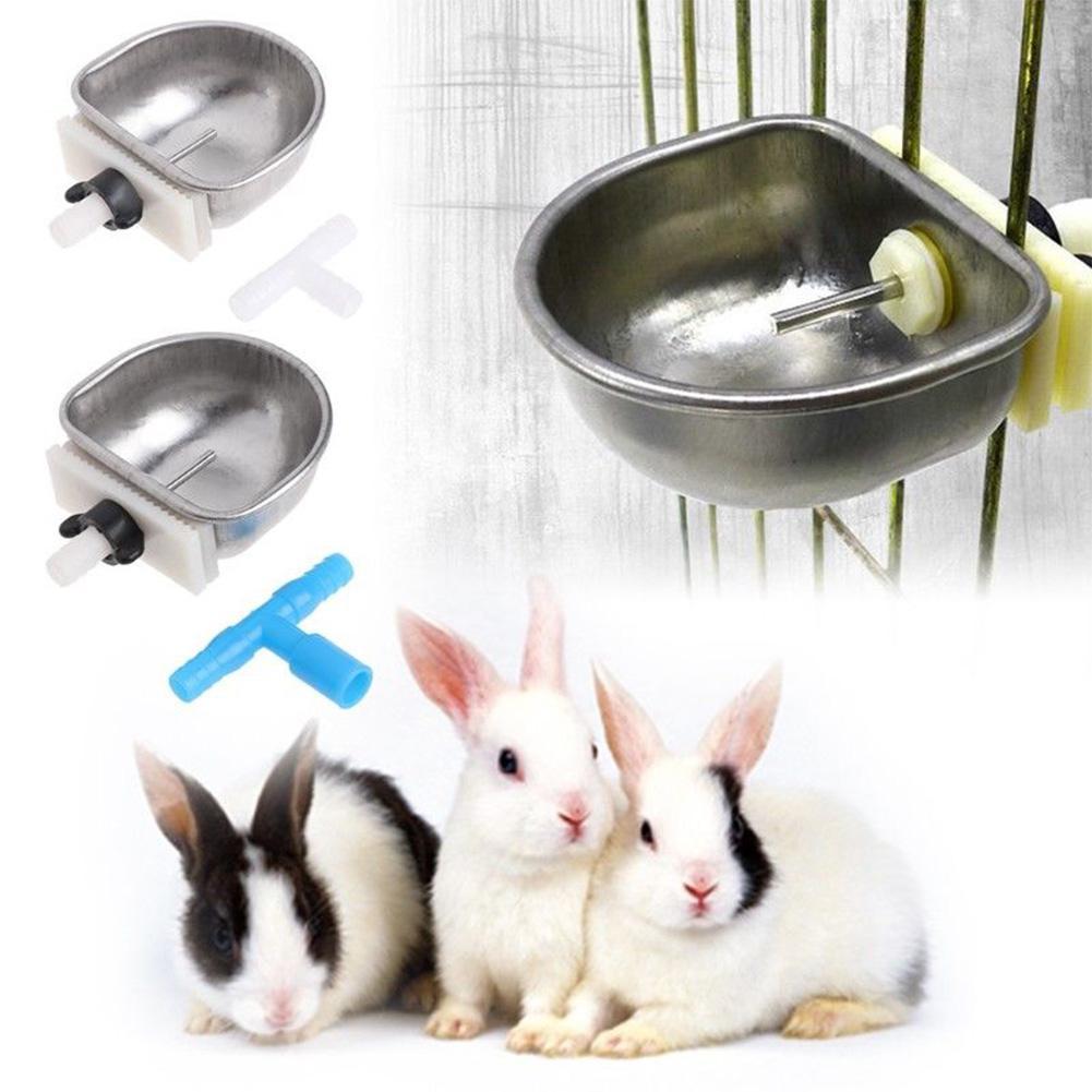 LanLan Pet Rabbit Chew Resistant Drinker Water Feeder Fix Bowl Drinking Box T Joint Equipment