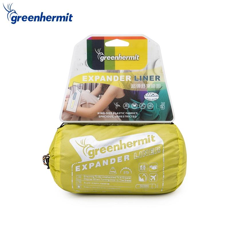 Зеленый отшельник спальный мешок Александра лайнера для Отдых Путешествия Hotel Лежала сумка удобная притон лежак Laybag диван Sack OD8501 ...