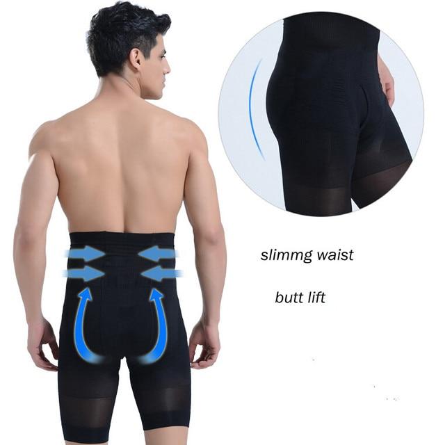 PRAYGER Men High Waist Slimming Abdomen Control Panties Seamless Girdle Tummy Trimmer Corset Lift Butt Underwear 1