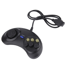 Classic Retro 6 Buttons Wired Handle Game Controller Gamepad Joystick Joypad For Sega Md2 Pc Mac Mega Drive Gaming Accessories wired usb gamepad joystick for n64 classic game controller joypad for windows pc mac control