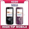 Мобильный телефон Nokia 6220c, 6220 классическая bluetooth-gps 3 G 5 mp камера 6220 отремонтированный