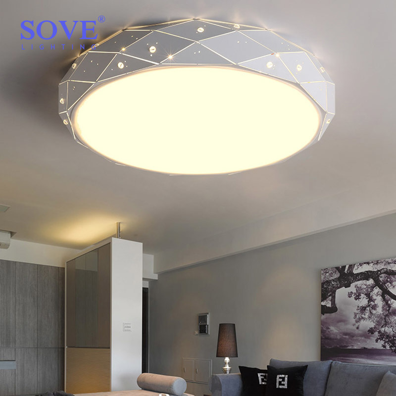 Sove Direct Selling Promotion Led Bulbs Ac Lamparas De Techo Colgante Modern Led Ceiling Lights For Living Room Ceiling Lamp noosion modern led ceiling lamp for bedroom room black and white color with crystal plafon techo iluminacion lustre de plafond