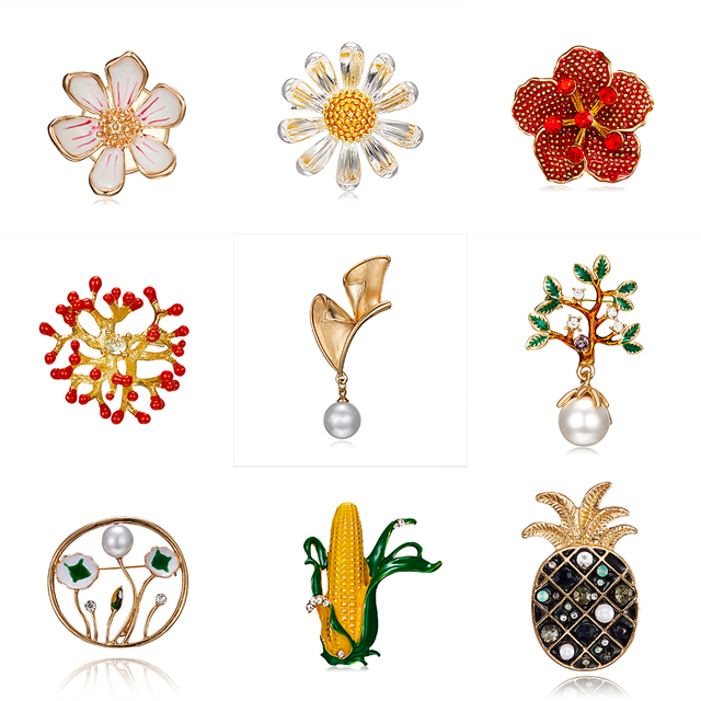 cc5820ebdd7 Rinhoo Elegant Tulip Flower Brooch Pin Crystal Costume Jewelry Clothes  Accessories Jewelry Brooches For Wedding Z014 Brooches
