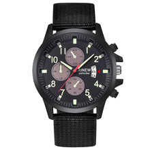 #5001 Fashion Leisure High Quality Man Watch Mens Military Steel Military Date Quartz Analog Army Casual Dress Wrist Watches(China)