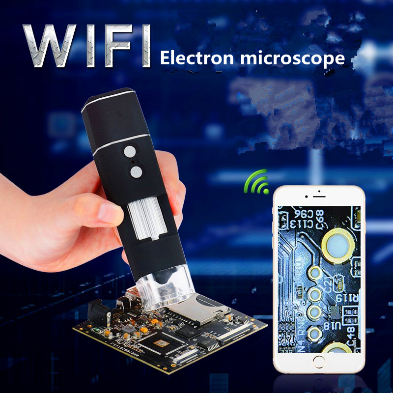 WIFI Microscope 50-1000 Times Cell Phone Microscope Cultural Relic Identification Jewelry and Jade Skin Hair Five Senses aiboully 50 times magnifying glass handheld portable microscope identification text play jade tools antique collection