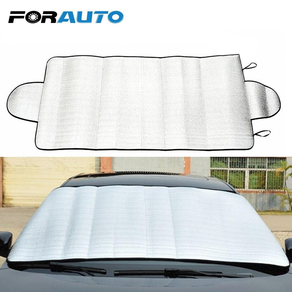 FORAUTO Car Windshield Sun Shade Windshield Film Sun Reflective Shade Foldable UV Protect Car Styling Durable