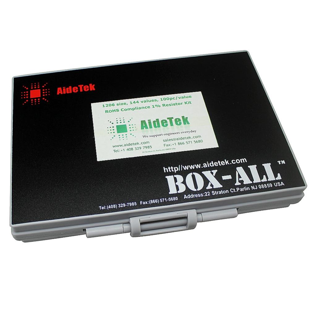 AideTek SMD SMT1206 1% Резистор Комплект E96 Ассорти 14400 шт BOX-ALL10Mresistor коробка для хранения пластиковая часть коробка lablesR12E24100