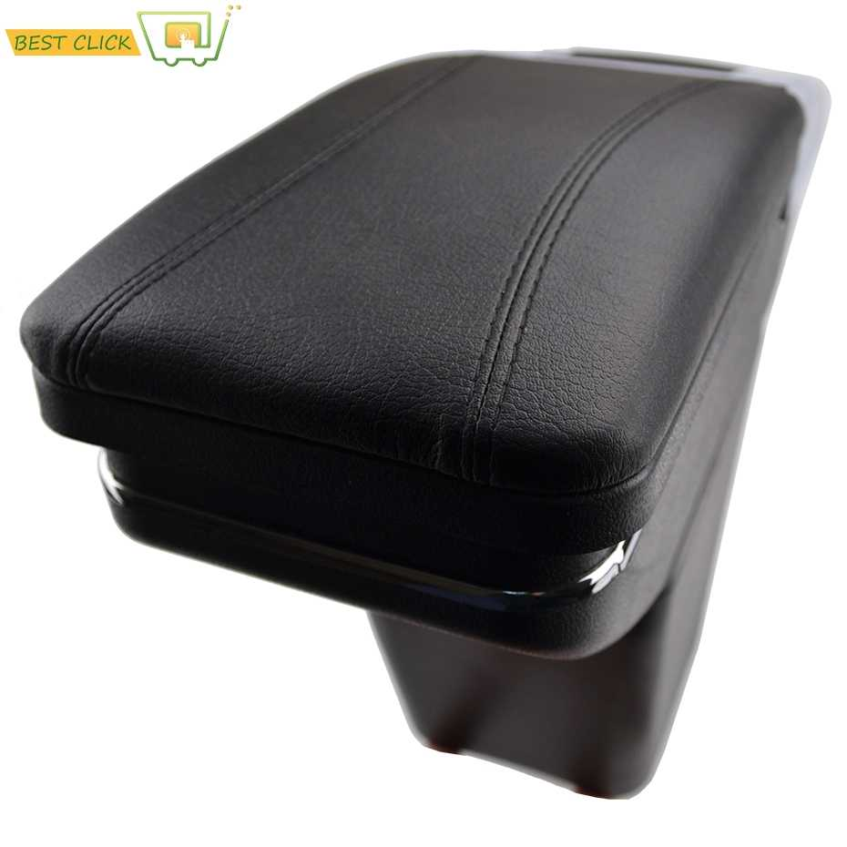 Car Armrest Arm Rest Rotatable For Renault Captur Kaptur 2016-2017 Center Centre Console Storage Box