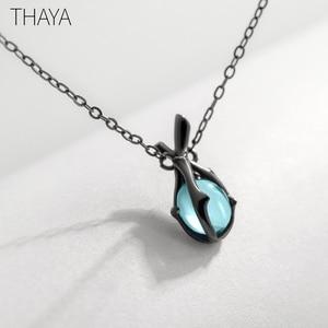 Image 5 - Thaya Original Design Sleeping Beauty Necklace S925  Silver Handmade Crystal Short Collarbone Chain  Jewelry Gift