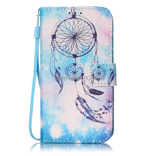 Datura Flower Skull Wallet Leather Case For Iphone 8 7 6