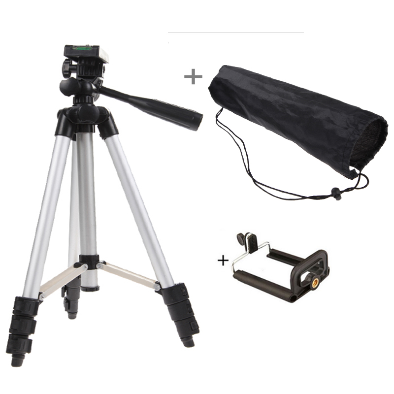 Unfolded 1020mm Portable Professional Camera Tripod High Quality Universal Tripod For Camera Mobile Phone Tablet