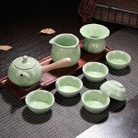 Ceramiczny prezent Ru pieca Kung Fu zestaw herbaty specjalne hurtownie 7 film czajniczek puchar w Zest. naczyń do herbaty od Dom i ogród na