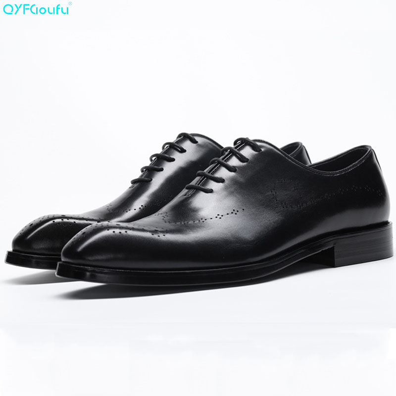QYFCIOUFU Luxury Brand Men Dress Shoes Vintage Brogues Oxford Shoes Fashion Genuine Leather Wedding Formal Carving Derby ShoesQYFCIOUFU Luxury Brand Men Dress Shoes Vintage Brogues Oxford Shoes Fashion Genuine Leather Wedding Formal Carving Derby Shoes