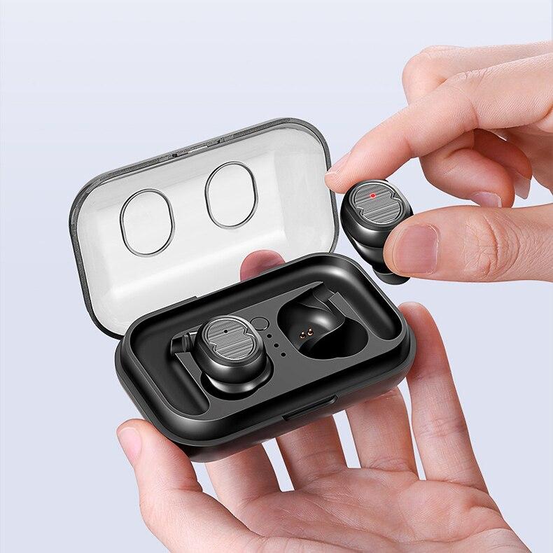Écouteurs Bluetooth trade 5.0 TWS-8 casques sans fil Mini écouteurs HiFi son Sport étanche avec micro pour tous les téléphones mobiles