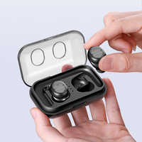 Tradexert Bluetooth Earbuds 5.0 TWS-8 Wireless Headsets Mini Earphones HiFi Sound Sport Waterproof with mic for all mobilephones