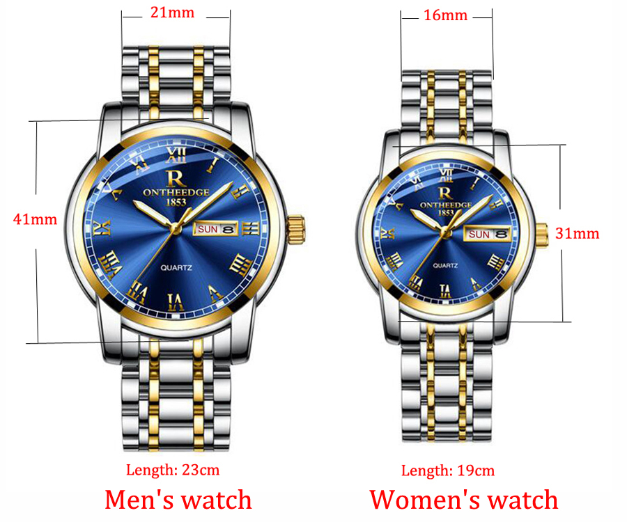 Watch Men Women Business Waterproof Clock Auto Date Silver Steel Mens Watches Fashion Casual Ladies Quartz Wristwatch NEW 6