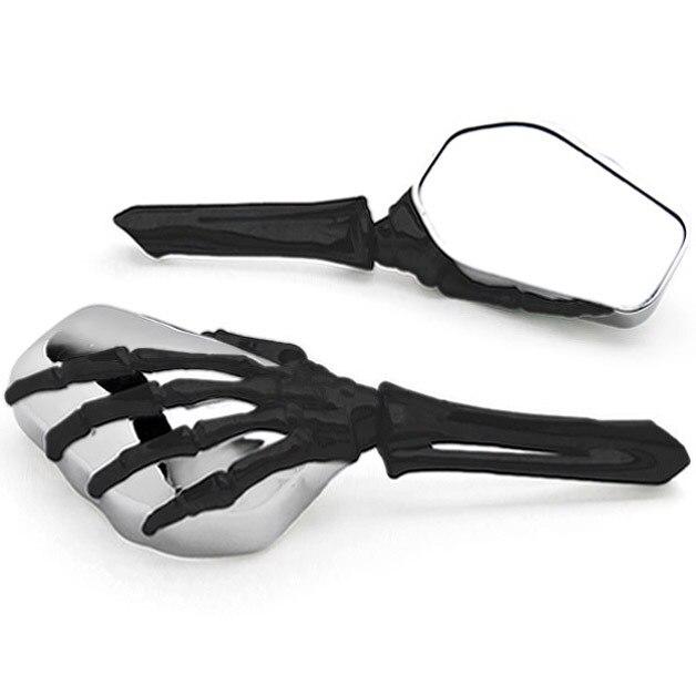 Бесплатная доставка черный/хром Скелет ручной мотоцикла Зеркала для Honda VTX 1300 C R S Ретро