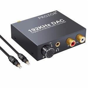Image 4 - Цифровой аудиопреобразователь proзор DAC RCA 3,5 мм выход с регулировкой громкости L/R декодер Toslink в аналоговый для домашнего кинотеатра DVD