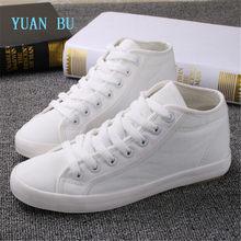 b697c97b9 YUAN BU Alta sapatas de lona das mulheres versão Coreana da tendência era  magro cor sólida sapatos respirável sapatos casuais
