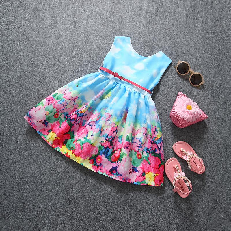 Girl Dress 2015 New Brand Baby Kids Clothes Vestidos Children