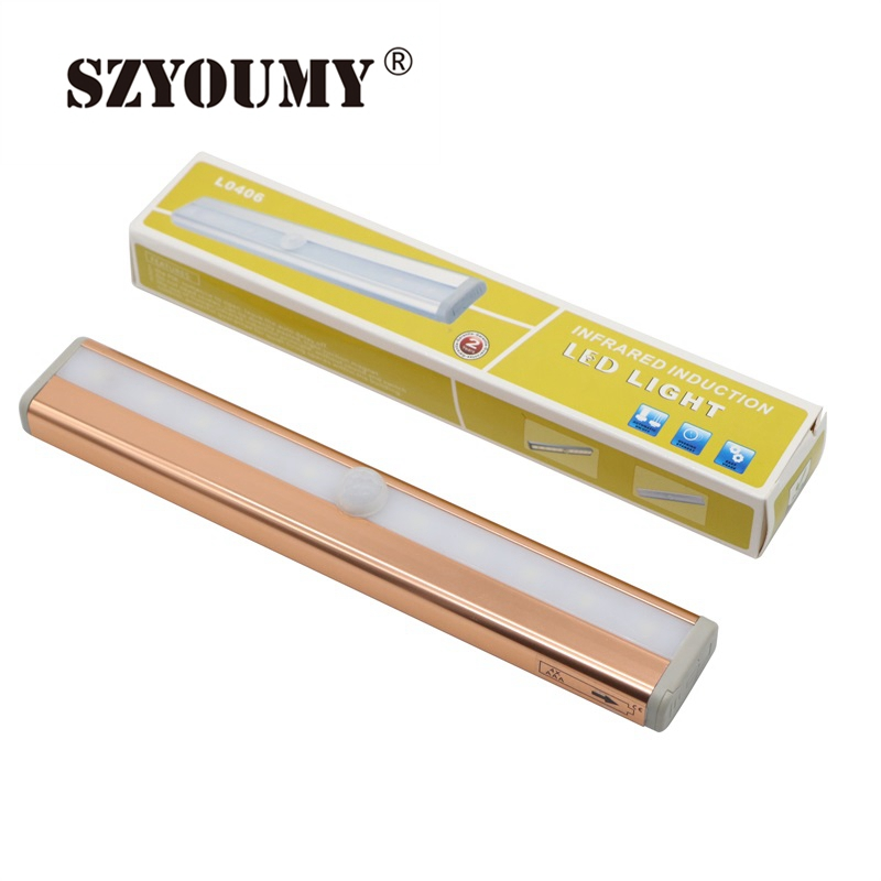 Us 75 26 8 Off Szyoumy 10 Led Ir Infrared Motion Detector Wireless Sensor Closet Cabinet Light Lamp Battery Ed Bar Auto Pir In