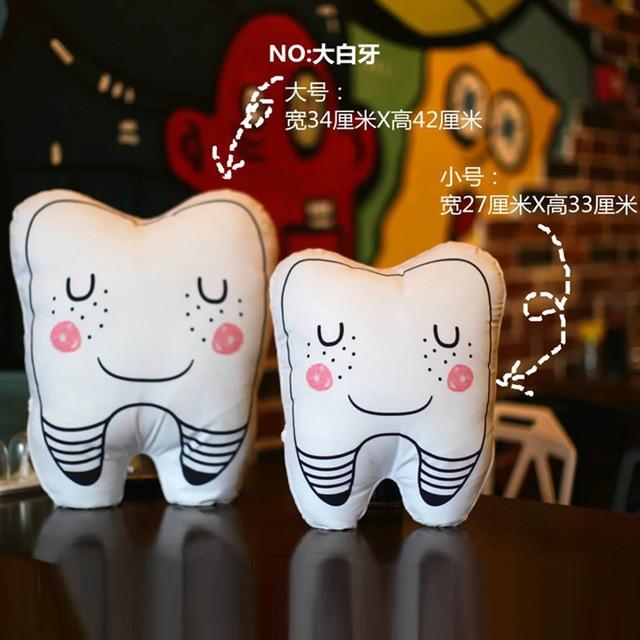 1pcs Creative Simulation Tooth Plush Pillows Cute Smile Teeth Soft Sofa Cushion Interesting Gift Home decoration