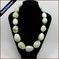 Natural Stone Marble Freeform Graduated Shape Collar Beaded Strand Choker Chunky Necklace 19 Lobster Clasp Jewelry