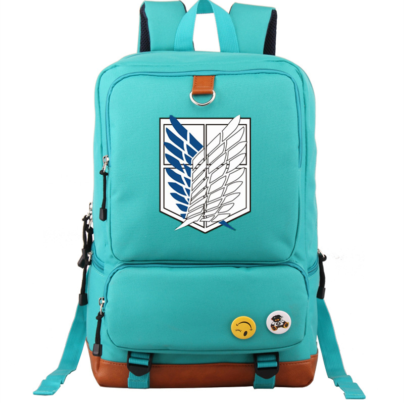 Anime Attack on Titan Scout Legion Survey Corps Printing Backpack Mochila Feminina Cartoon School Bags for Teenage GirlsAnime Attack on Titan Scout Legion Survey Corps Printing Backpack Mochila Feminina Cartoon School Bags for Teenage Girls