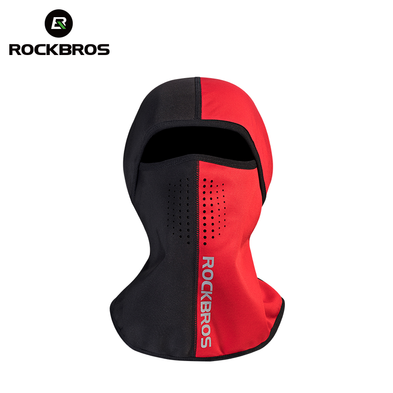 ROCKBROS Winter Cycling Headwear Mask Cap Bicycle Fleece Thermal Keep Warm Riding Scarf Mask Caps Windproof Balaclava Polyester jaisati winter outdoor riding windproof cap fleece hood cs hat mask thick warm snow cap dust mask
