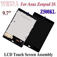 Weida lcd substituição para asus zenpad 3 s 10 z500kl zt500kl 2048*1536 display lcd montagem da tela de toque quadro p001