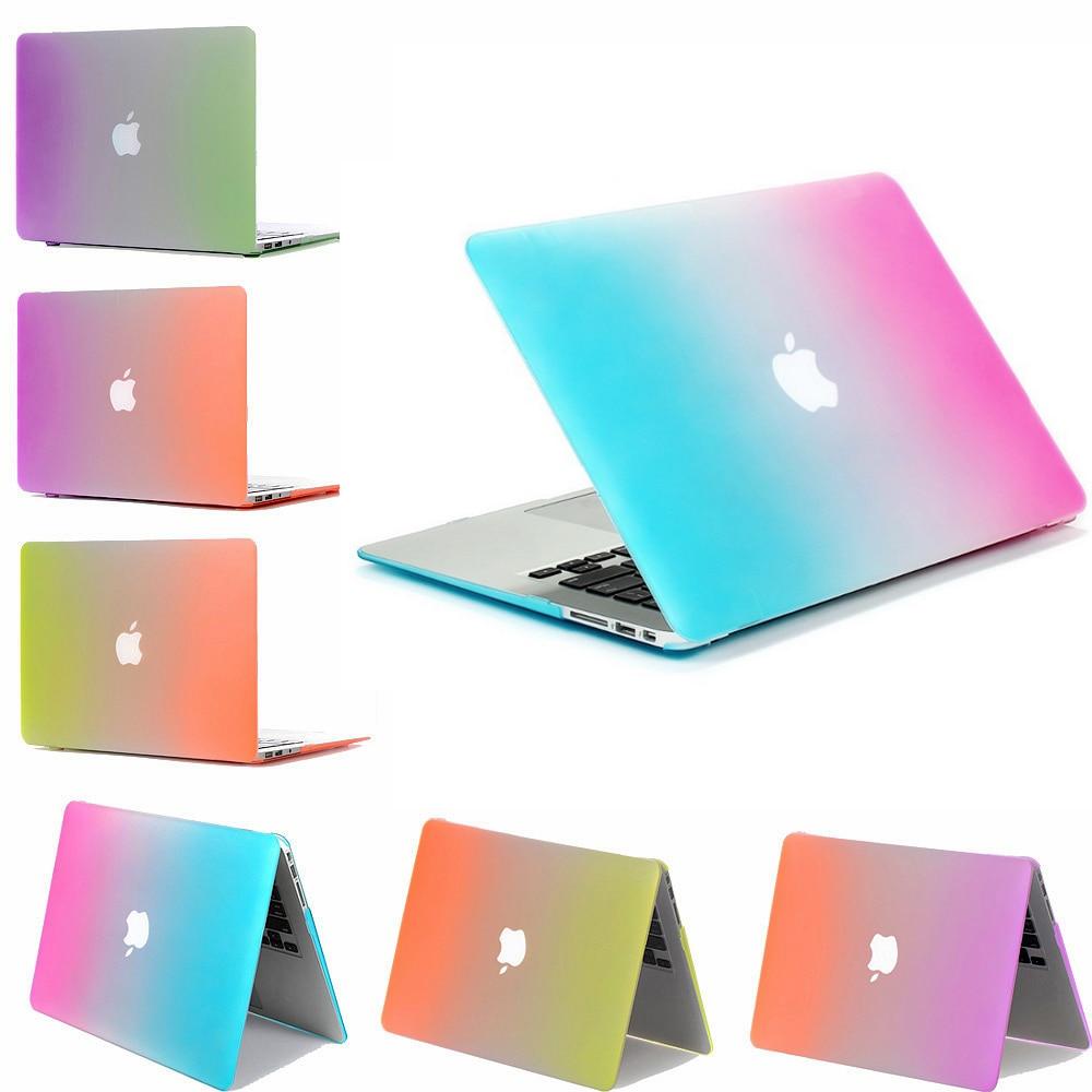 slim for macbook air 13 pro 13 laptop case rainbow colorful case for coque macbook air pro