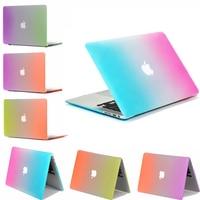 Fashion Colorful Surface Matte Rainbow Case For Fandas Macbook Air Pro Retina 11 6 12 13