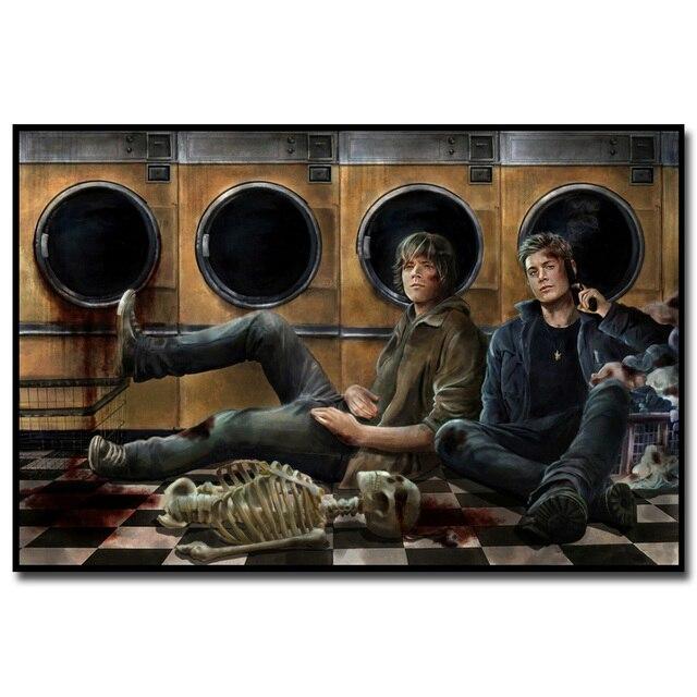 Шелковый плакат гобелен игра Сверхъестественное в ассортименте