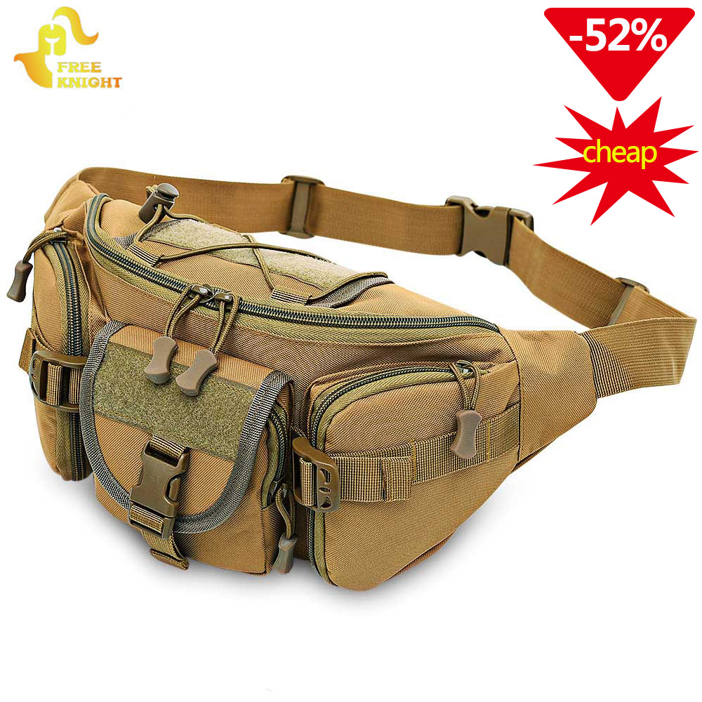 a7dfa3bff27 Free Knight 3-5L Tactical Waist Bag Molle Waterproof Waist Fanny Pack  Hiking Fishing Sport